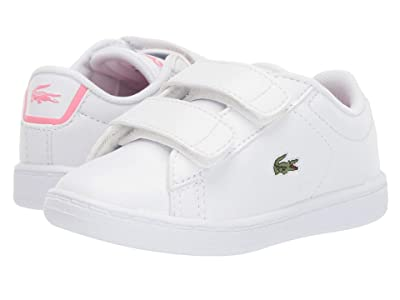 Lacoste Kids Carnaby Evo Bl 2 (Toddler/Little Kid) (White/Pink) Kid