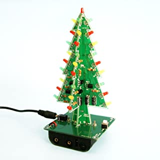 Gikfun 3D Christmas Trees LED DIY Kit Flash LED Circuit EK1719