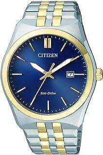 ساعة يد للرجال من سيتيزن تعمل بالطاقة الشمسية بعرض انالوج وسوار من الستانلس ستيل، BM7334-66L