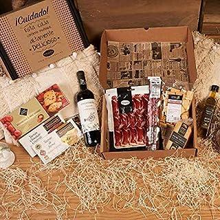 comprar comparacion Lote Gourmet - Vino Tinto Joven, Aceite Virgen Extra, Sobre Jamón Reserva, Chorizo Ibérico Vela, Queso Mahón Mercadal Cuña...