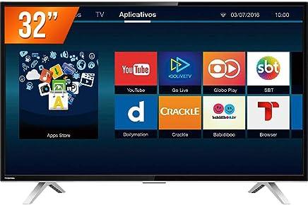 """Smart TV LED 32"""" HD com Wi-Fi Integrado, Toshiba, Preto"""