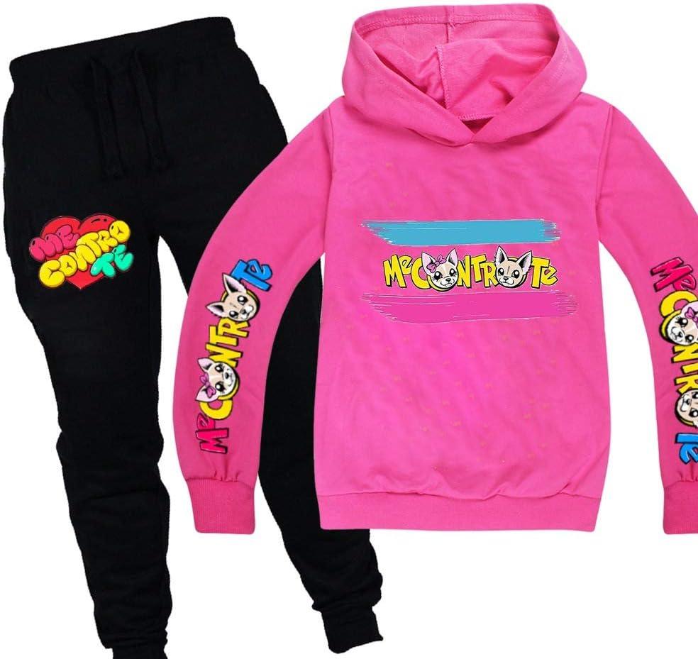 C/&NN Kleinkind-Jungen-M/ädchen-Kind Outfits Comic-Figuren Hoodie Pullover Tops Hosen Kleidung Sets,Schwarz,110cm