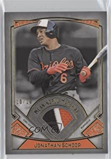 Jonathan Schoop #10/10 (Baseball Card) 2017 Topps Museum Collection - Meaningful Material Relics - Gold #MM-JS