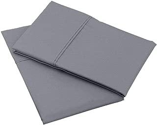 Pillow Cases - Set of 2, Dark Grey Solid (24