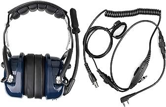 Retevis EH050K 2 Way Radio Headset Noise Cancelling Walkie Talkie Earpiece for Baofeng BF-F8HP Retevis RT1 RT22 Kenwood TK-3402 Two Way Radio(1 Pack)