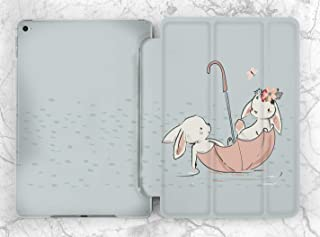 Baby Blue Rabbit Design Case For Apple iPad Mini 1 2 3 4 5 iPad Air 2 3 iPad Pro 9.7 10.5 11 12.9 inch iPad 9.7 inch 2017 2018 2019