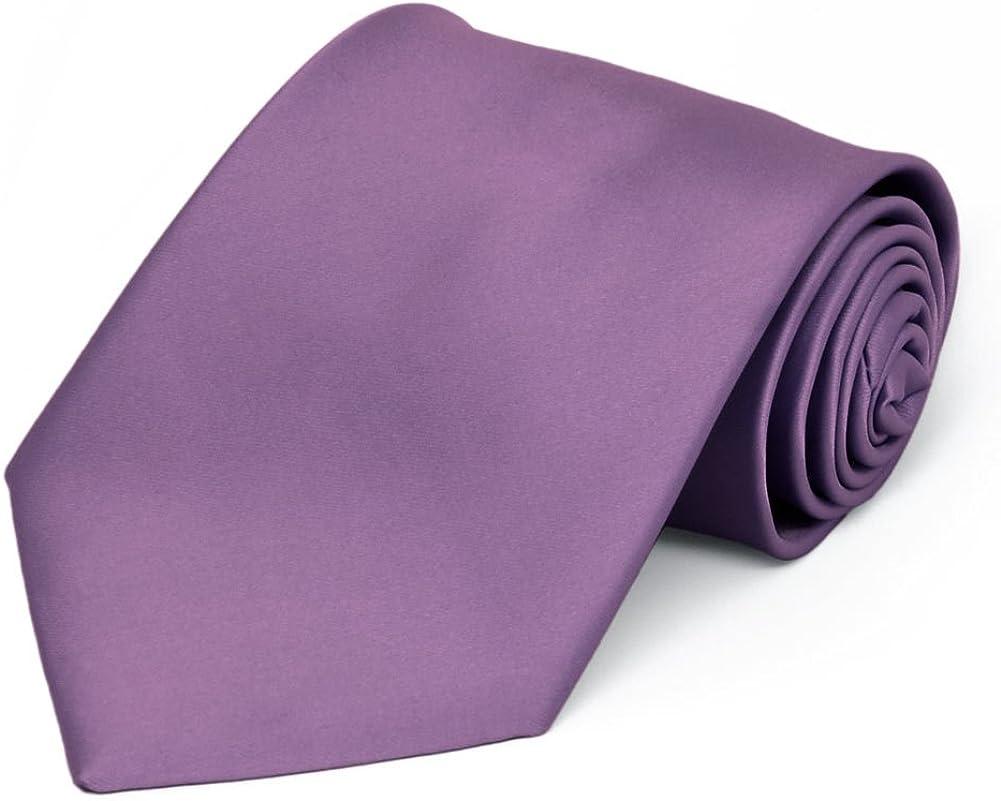 TieMart Premium Solid Color Necktie