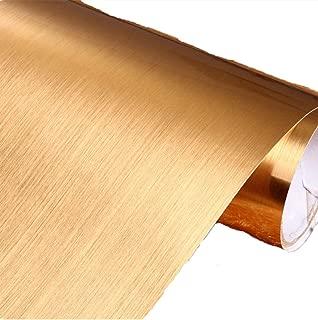 Amao Metal Texture Wallpaper Film Vinyl Self Adhesive Peel-stick Backsplash Removable 15.7''x79'' (Gold)