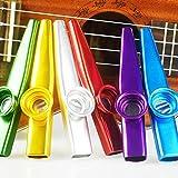 ccmart Juego de 6colores Metal Kazoo instrumentos musicales un buen compañero para guitarra, ukelele, Violín, Piano Teclado Gran regalo de Navidad para niños amantes de la música