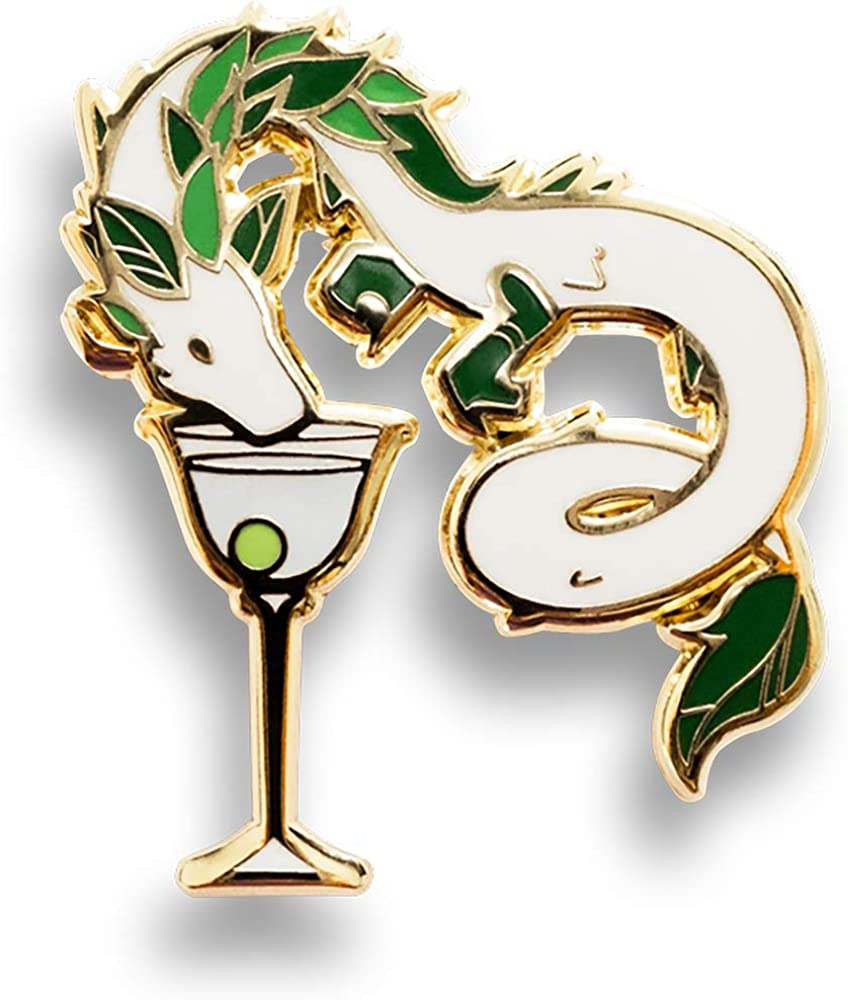 Cocktail Critters Dragon x Martini Hard Enamel Pin