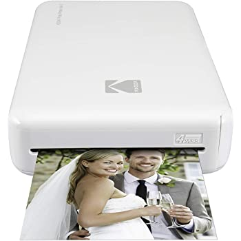 Kodak Mini 2 HD Wireless Portable Mobile Instant Photo Printer, Print Social Media Photos, Premium Quality Full Color Prints – Compatible w/iOS & Android Devices (White)