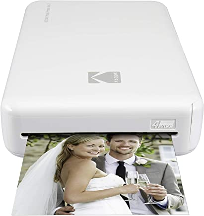 $89 Get Kodak Mini 2 HD Wireless Portable Mobile Instant Photo Printer, Print Social Media Photos, Premium Quality Full Color Prints – Compatible w/iOS & Android Devices (White)