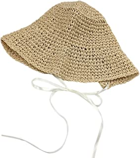 Sunhat Straw Hat Beach Hat Summer Shade Sunscreen Caps for Women Fashion(Beige)
