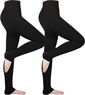 Tencoz Leggings Invierno Mujer, Pack de 2 Pantalones Leggins Cintura Alta con Forro Polar Grueso, Medias Leggings Térmicos...