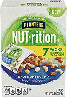 NUTrition Lightly Salted Wholesome Nut (1.25 oz Bags, Pack of 7)
