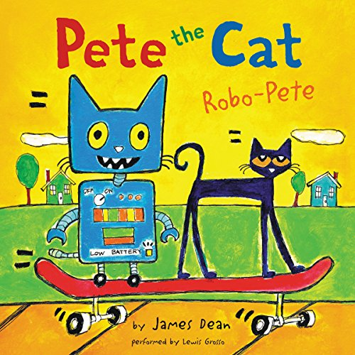 Pete the Cat: Robo-Pete audiobook cover art