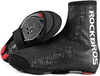 ROCKBROS(ロックブロス)自転車 シューズカバー 防寒 サイクルシューズカバー ロードバイク 防風 冬 軽量 反射テープ付き