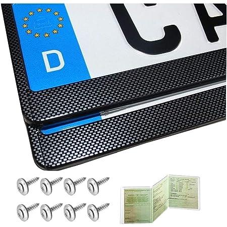 Voiture plaque d/'immatriculation kit de montage ajustement sticky pads et tête plate vis camping-car