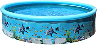 Inflatable Swimming Pool, 49in Circle Swimming Pool for Toddlers, Kids, Family, Above Ground, Backyard, Outdoor, Summer Wa...