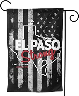 LILIBEEE American USA US Flag El Paso Strong 2 Posters and Art Double Sided Flag Garden Flag Yard Decoration Flag