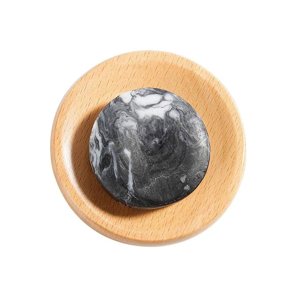 頑丈住人ネックレット火山泥 石鹸 美白 ボディクリア 抗菌 スキンケア 腹ステッカー5枚付き hjuns-Wu