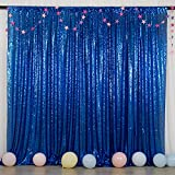 Sequin Backdrop Photo Booth Backdrop 6FTx6FT Royal Blue Wedding Shimmer Fabric Background for Baby Shower Sparkle Sequin Wall Backdrop for Party Event