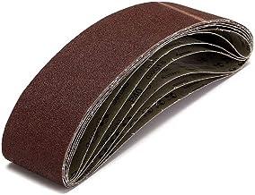 STEDMNY Schuurband 6 Packs 4 inch x 36 inch (100x915mm) 40 Grit Schuurriemen voor Metaal Werken Donker Rood