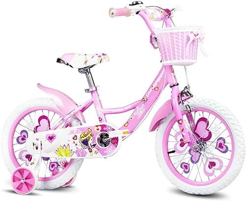 Vélos enfants et Accessoires Vélo pour Enfants 12 14 Pouces Fille bébé vélo de Sport vélo 2-6 Ans Enfant Fille bébé Voiture (Couleur   rose, Taille   96  75cm)