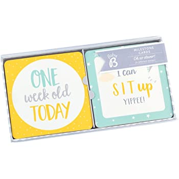 Busy B Baby Milestone Cards - 24 Pack Neutral