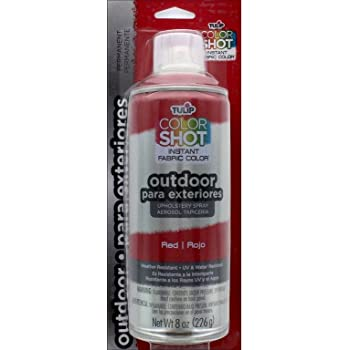 TULIP Color Shot Red CS Outdoor Uph Spray 8oz, 1-Can, 12 Oz