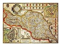 ジグソーパズル ヨークシャーノース&イーストライディング歴史マップウッドジグソーパズル、クラシック教育ゲームおもちゃ、木製パズル300/500/1000/1500ピース (Size : 500P)