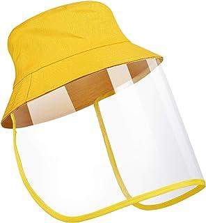 ORIA Kids Face Shield Hat, Sun Full Face Protective Bucket Hat, Fisherman Hat with Face Shield, Anti-fog Anti-splash Dustp...