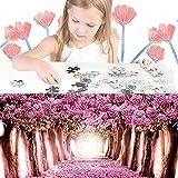 URMAGIC adultos niños Puzzle 1000 piezas romántico paisaje cerezo árbol romper plano rompecabezas descompresión diversión Rompe cumpleaños regalo madres regalo