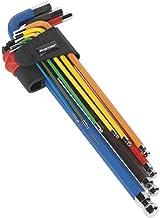 SEALEY ak7191 inbussleutel set 9 stuks kleurrijke extra lange metrische