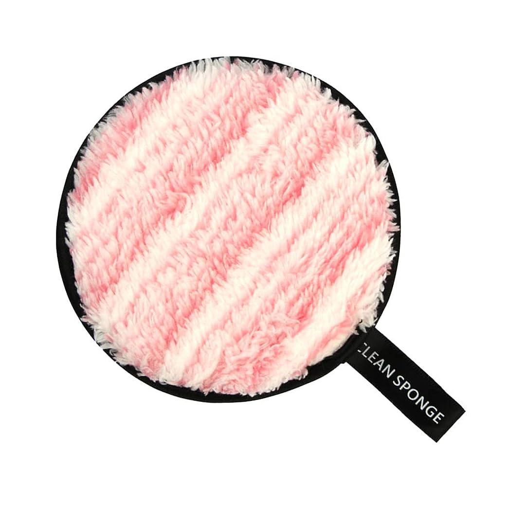 濃度のり番号T TOOYFUL フェイススポンジ メイク落としスポンジ 洗顔パッド 再利用可能 クリーニングパフ 全6色 - ピンク