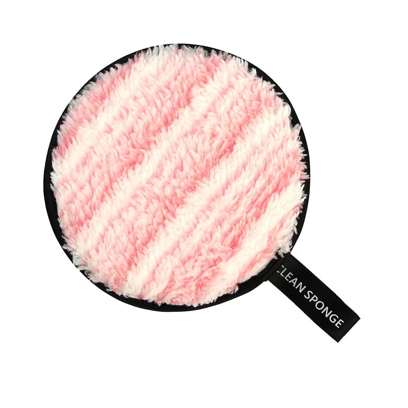 アルミニウム検索エンジン最適化刺しますT TOOYFUL フェイススポンジ メイク落としスポンジ 洗顔パッド 再利用可能 クリーニングパフ 全6色 - ピンク