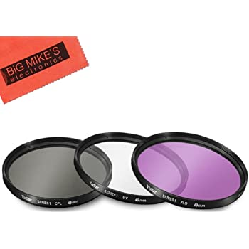 49mm Circular Polarizer Multicoated Glass Filter CPL for Sony E 55-210mm f//4.5-6.3 OSS Microfiber Cleaning Cloth