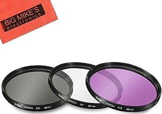 49mm Multi-Coated 3 Piece Filter Kit (UV-CPL-FLD) for Canon EF 50mm f/1.8 STM Lens