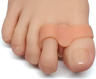 ZenToes Toe Separators with 2 Loops - Pack of 4 Soft Gel Bunion Correctors (Beige)