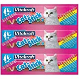 Vitakraft - Snacks barritas mini para gatos (Paquete de 20) (Tamaño Único) (Salmón & Trucha)