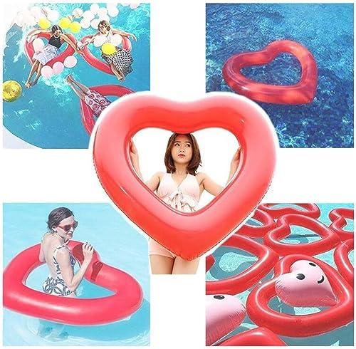DZH Anneau de Natation Anneaux de Bain gonflables Anneau de Bain Coeur d'amour - Adultes Amusants Enfants Swim Party Toytrainer