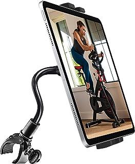 woleyi グースネック フィットネスバイクタブレットホルダー 自由曲げ可能 エクササイズバイク トレッドミル タブレットスタンド スマホやタブレット用 バイク取り付けクランプマウント 対応機種4-12.9インチデバイス iPad Pro 1...