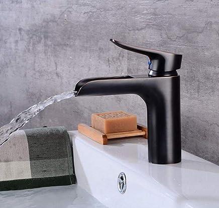 Retro Mixer Faucet Faucet Black Ancient Basin Basin Faucet Retro Bathroom Faucet Waterfall Faucet