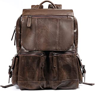 Retro School Bag Men's Bag Simple Business Casual Travel Bag Male Backpack