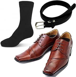 【福袋 2018 メンズ】ルミニーオメンズビジネスシューズ、靴下、ベルト合計3点福袋