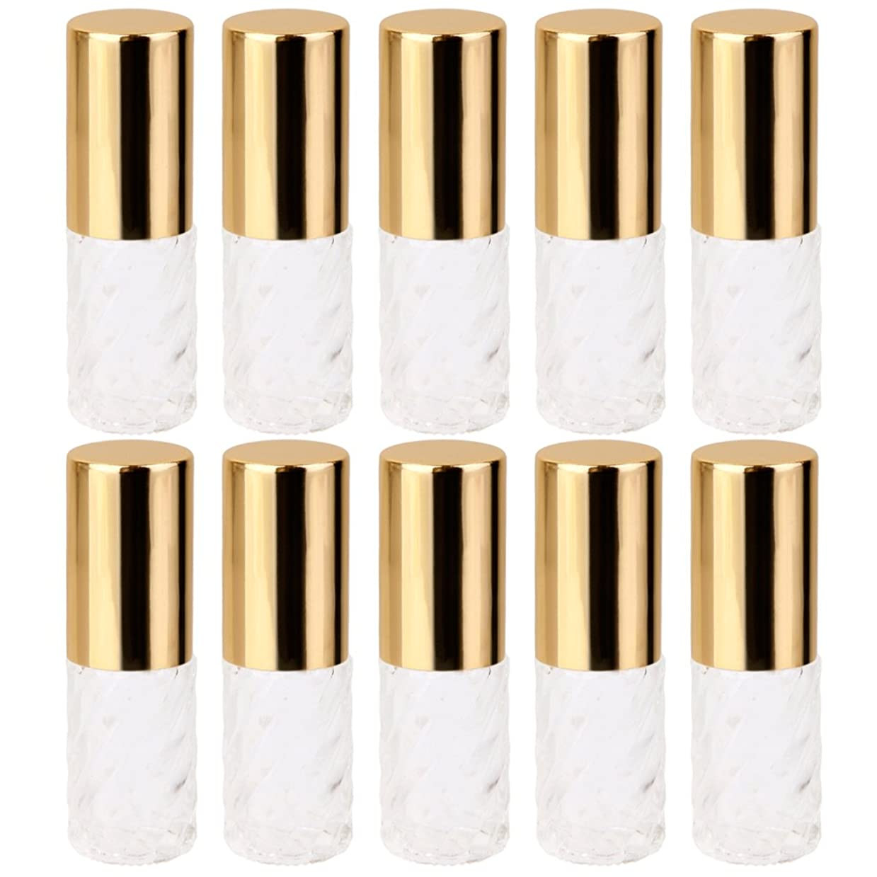 平和な理想的には晩ごはんBaoblaze 10本入り 透明 交換 旅行 空 ロールオン ガラス 香水瓶 容器 コスメ 詰替え 便利 5ml