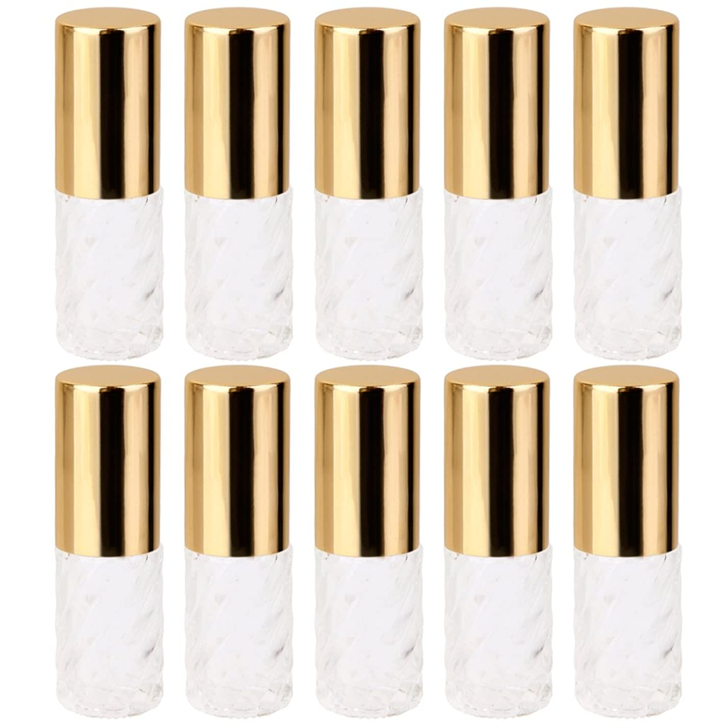 広範囲にシェーバー後方Baoblaze 10本入り 透明 交換 旅行 空 ロールオン ガラス 香水瓶 容器 コスメ 詰替え 便利 5ml
