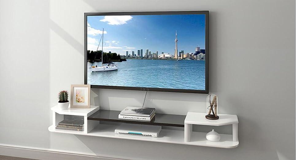 脳オーバーランダーベビルのテスZB 壁セットトップボックスラックテレビキャビネットの壁のパーティションテレビの壁の壁の装飾のラックの壁の棚のリビングルームの壁のテレビキャビネット白1.2 m A+ (サイズ さいず : 120cm)