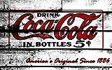 Sticker, selbstklebend oder Poster, Coca Cola, DI _ 00001, Papier, Stickers autocollant, 29,7x42 cm (A3)
