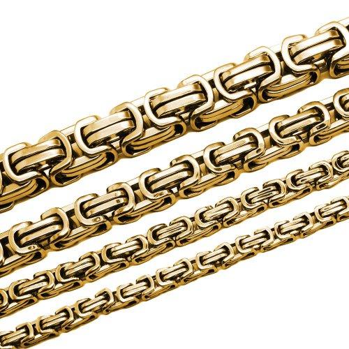 Soul-Cats® Königskette Halskette aus Edelstahl in gold, Länge: 60 cm, Stärke: 6 mm